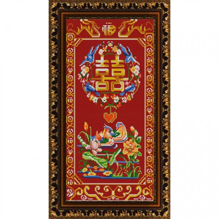Рисунок на ткани (Бисер) КОНЁК арт. 9875 Уточки мандаринки 25х45 см
