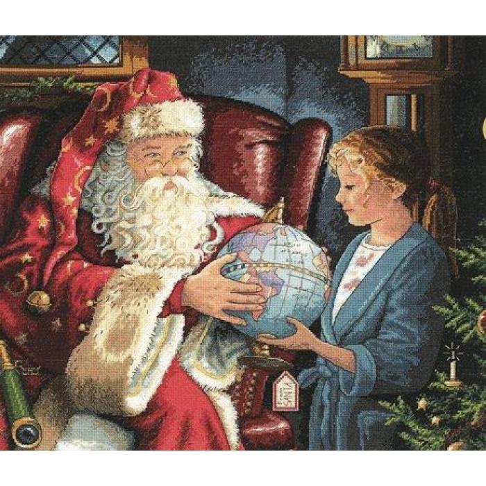 """Набор для вышивания Classic Design арт.4343 """"Однажды в рождество"""" 48х42 см"""