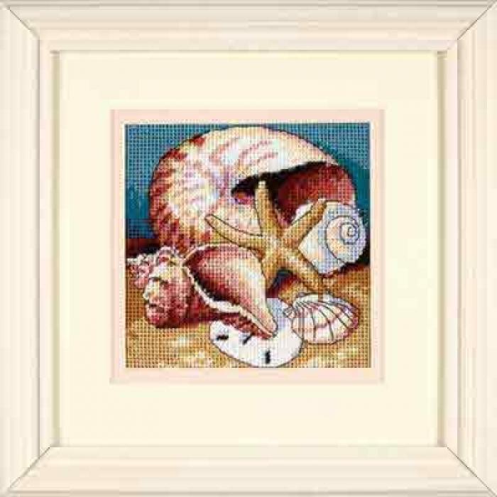 Набор для вышивания DIMENSIONS арт.DMS-07219 Ракушки 13х13 см