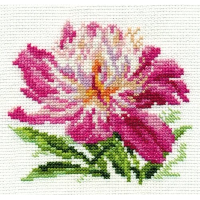 Набор для вышивания АЛИСА арт.0-119 Розовый пион 10х11 см