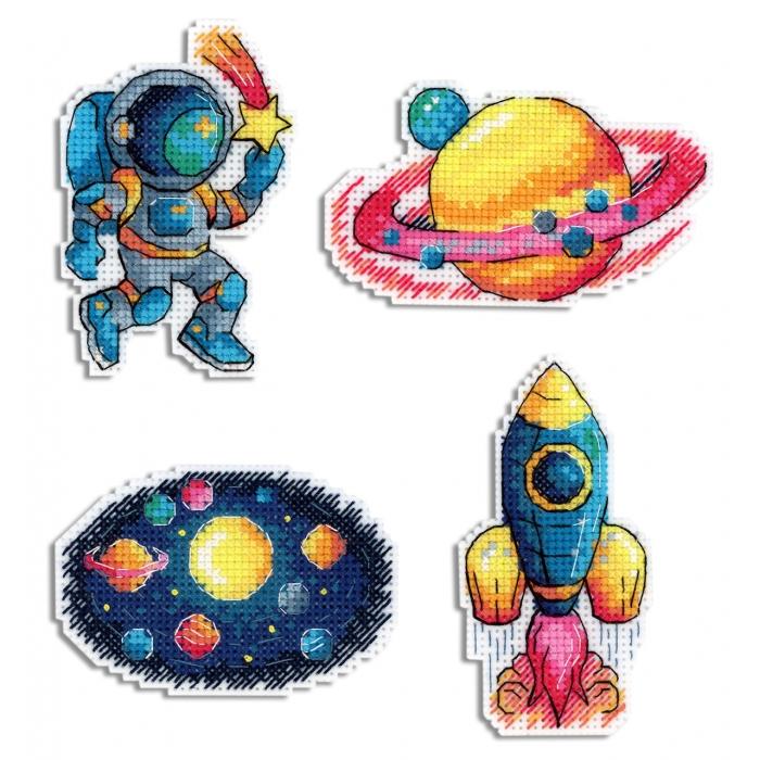 Набор для вышивания ЖАР-ПТИЦА арт.Р-576 Космос. Магниты 6х9 см