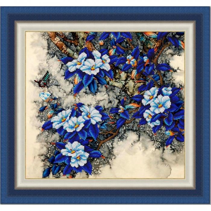 Рисунок на ткани (Бисер) КОНЁК арт. 9947 Цветочный ажур 40х40 см