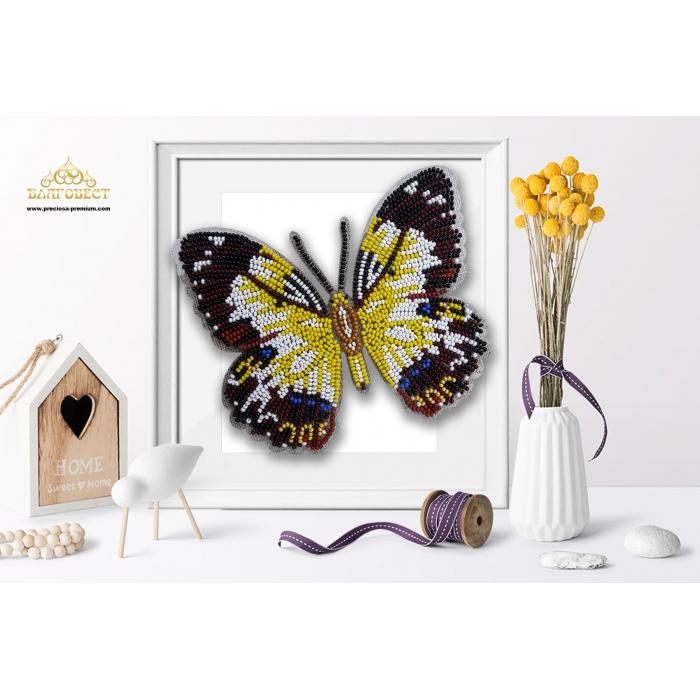 Пластиковая перфорированная основа БЛАГОВЕСТ арт.БС-043 3-D Бабочка. Рapilio Euchenor 10х12 см