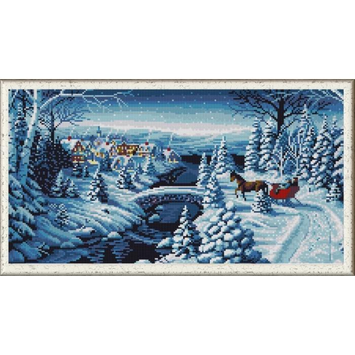 Рисунок на ткани (Бисер) КОНЁК арт. 1263 Зимняя прогулка 25х45 см