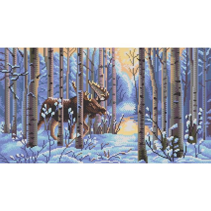 Рисунок на канве КОНЁК арт. 7815 Лось 25х45 см