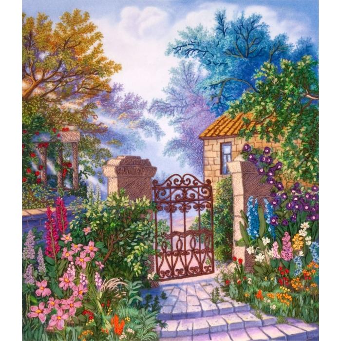 """Набор для вышивания PANNA """"Живая картина"""" арт. JK-2000 Райский уголок 22х25,5 см"""