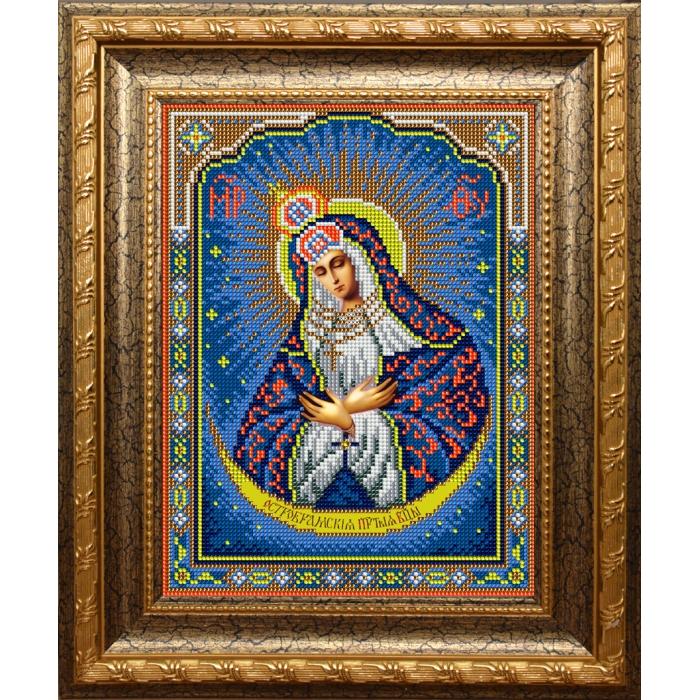 Набор для вышивания бисером ВЫШИВАЕМ БИСЕРОМ арт.L124 Остробрамская Божья Матерь 19х25 см
