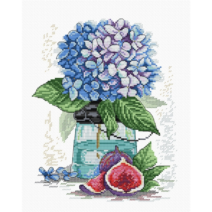 Набор для вышивания ЖАР-ПТИЦА арт.М-138 Сказочная гортензия 25х18 см