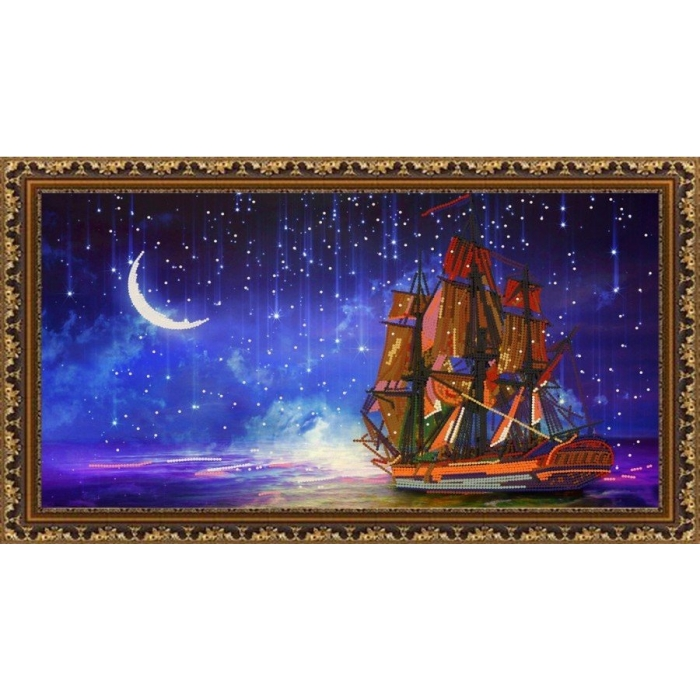 Рисунок на ткани (Бисер) КОНЁК арт. 8489 Звездопад 25х45см