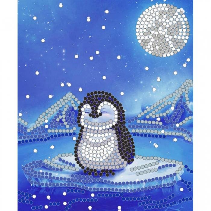 Рисунок на ткани (Бисер) КОНЁК арт. 8111 Пингвин 10х12 см
