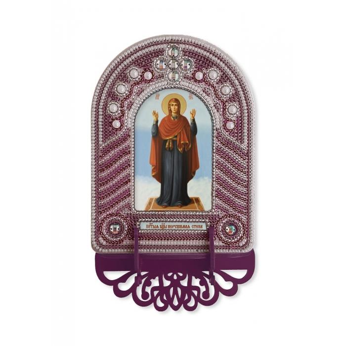 Набор для вышивания бисером НОВА СЛОБОДА арт.ВК1016 Богородица Нерушимая Стена 10х13 см