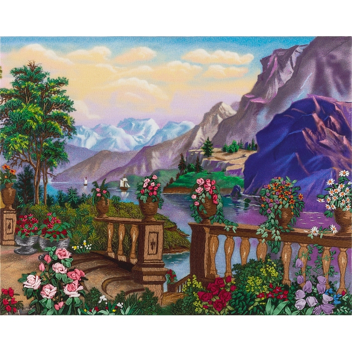 """Набор для вышивания PANNA """"Живая картина"""" арт. JK-2024 На веранде 24,5х19,5 см"""
