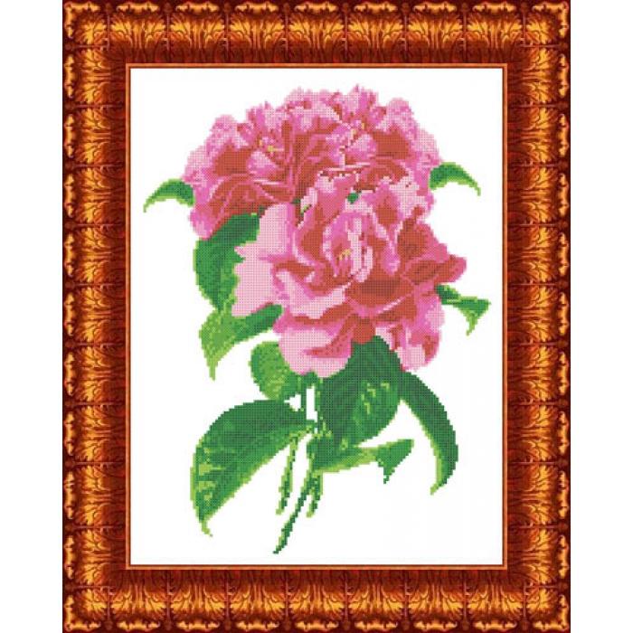 Канва с нанесенным рисунком КАРОЛИНКА арт. КК-022 Камелия 23х30 см