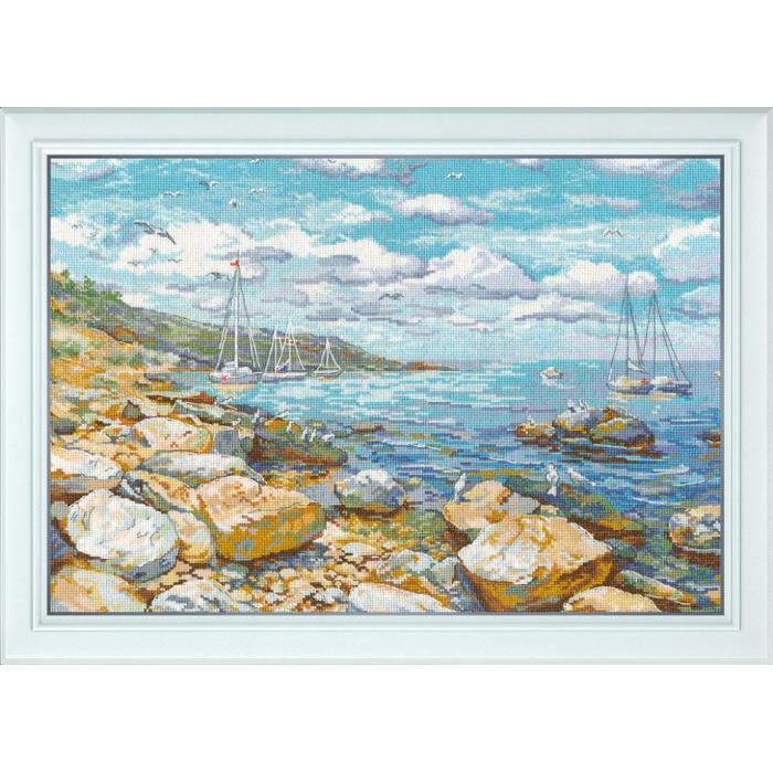 Набор для вышивания ОВЕН арт. 1177 Крымский берег 26х38 см