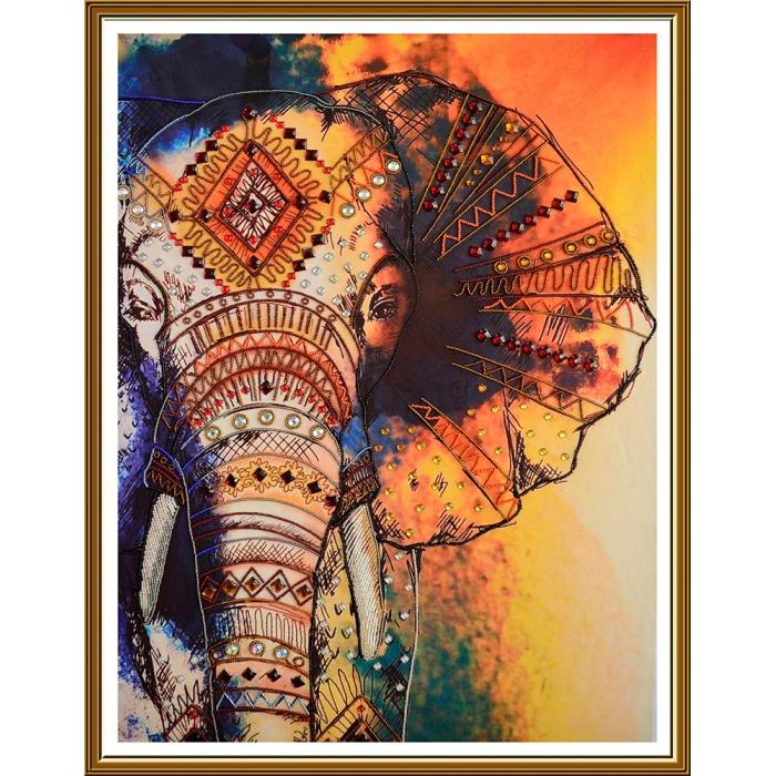 Набор для вышивания бисером НОВА СЛОБОДА арт.ДК1201 Слон 48х67 см