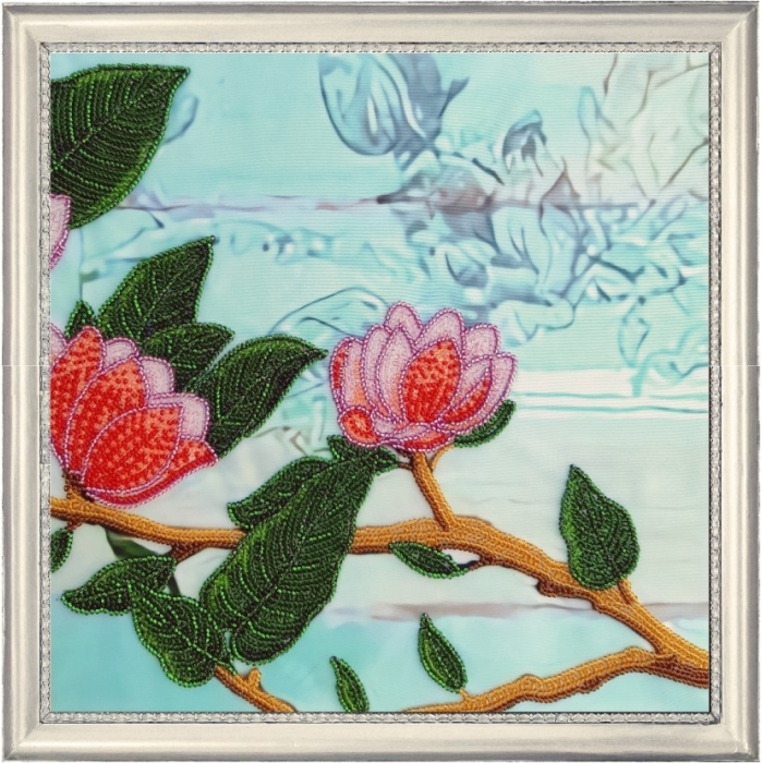 Набор для вышивания BUTTERFLY арт. 165 Ветвь магнолии 3 26х26 см