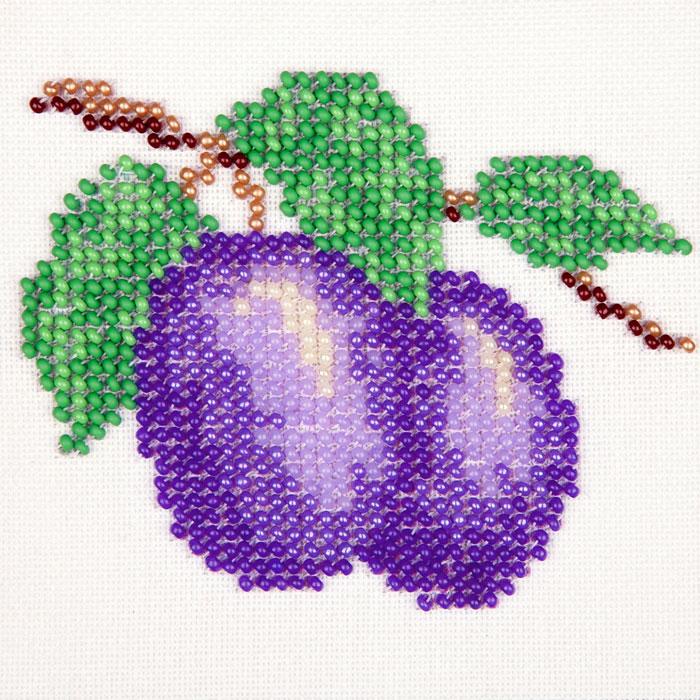 Набор для вышивания бисером LOUISE арт. L453 Слива 11х11 см
