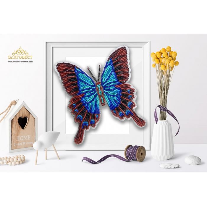 Пластиковая перфорированная основа БЛАГОВЕСТ арт.БС-044 3-D Бабочка. Papilio Pericles 10х12 см