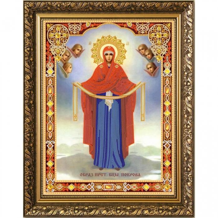 Рисунок на ткани (Бисер) КОНЁК арт. 7107 Богородица Покрова 29х39 см