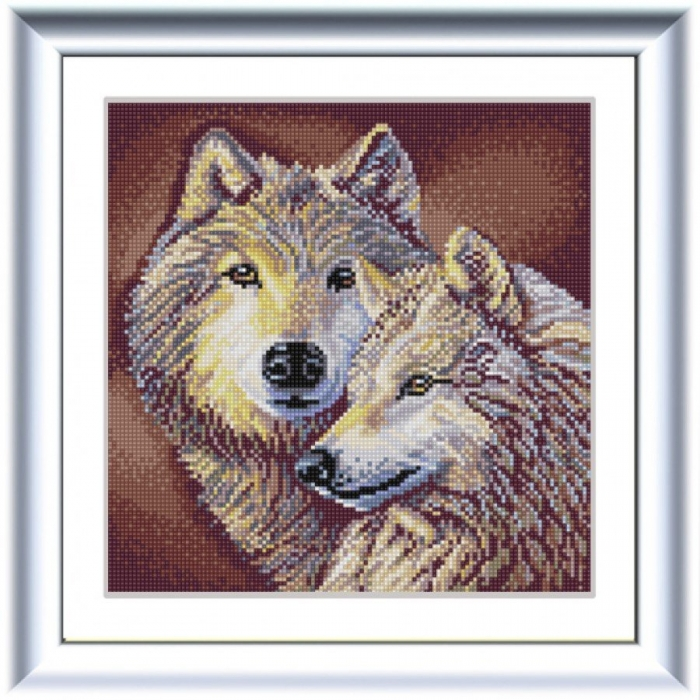 Рисунок на ткани (Бисер) КОНЁК арт. 1305 Волки 25х25 см