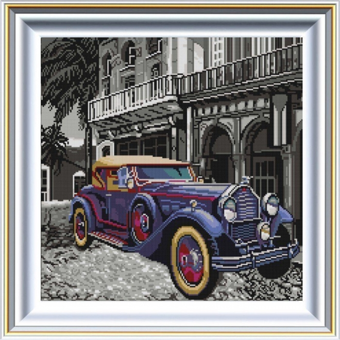 Рисунок на ткани (Бисер) КОНЁК арт. 1343 Ретро 3 40х40 см