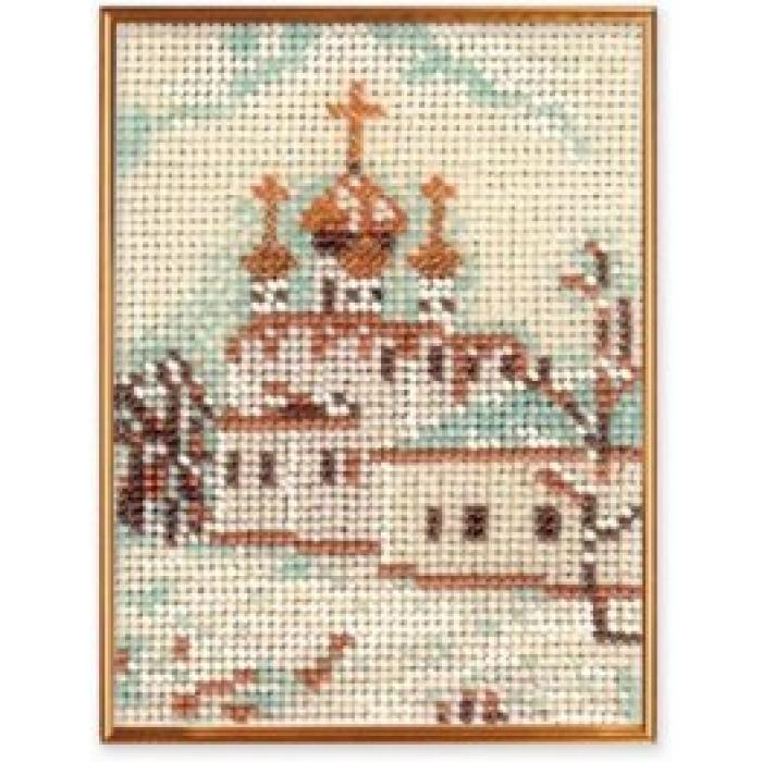Набор для вышивания бисером КРОШЕ арт. В-047 Москва. Смоленский собор 14х10 см