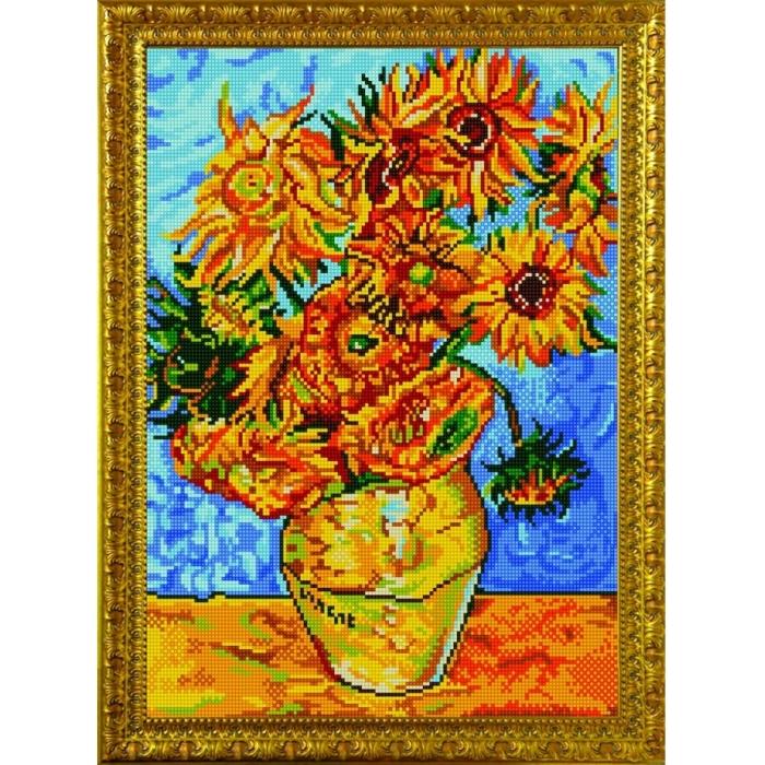 Рисунок на ткани (Бисер) КОНЁК арт. 9899 Подсолнухи 29х39 см