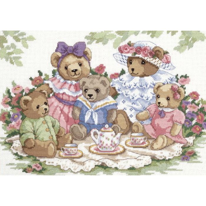 """Набор для вышивания Classic Design арт.4345 """"Чайная вечеринка"""" 35х24 см"""