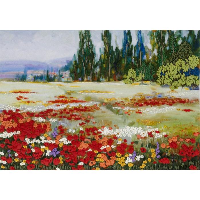 """Набор для вышивания PANNA """"Живая картина"""" арт. JK-2052 Цветочное поле 27,5х19,5 см"""