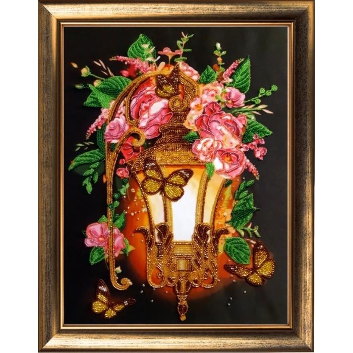 Набор для вышивания BUTTERFLY арт. 130 Цветочный фонарь 36х27 см
