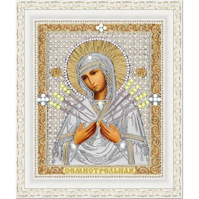 Рисунок на ткани (Бисер) КОНЁК арт. 7115 Богородица Семистрельная 20х25 см