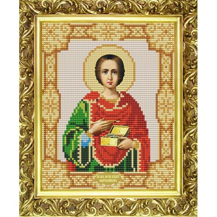 Рисунок на ткани (Бисер) КОНЁК арт. 9121 Святой Пантелеймон Целитель 15х18 см