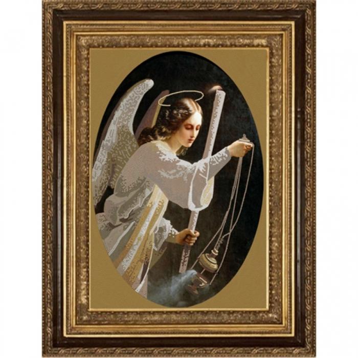 Рисунок на ткани (Бисер) КОНЁК арт. 8431 Ангел со свечей 29х39 см