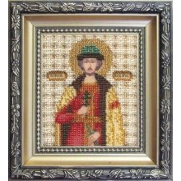 Набор для вышивания бисером ЧАРИВНА МИТЬ арт.Б-1065 Икона великого князя Игоря 9х11 см