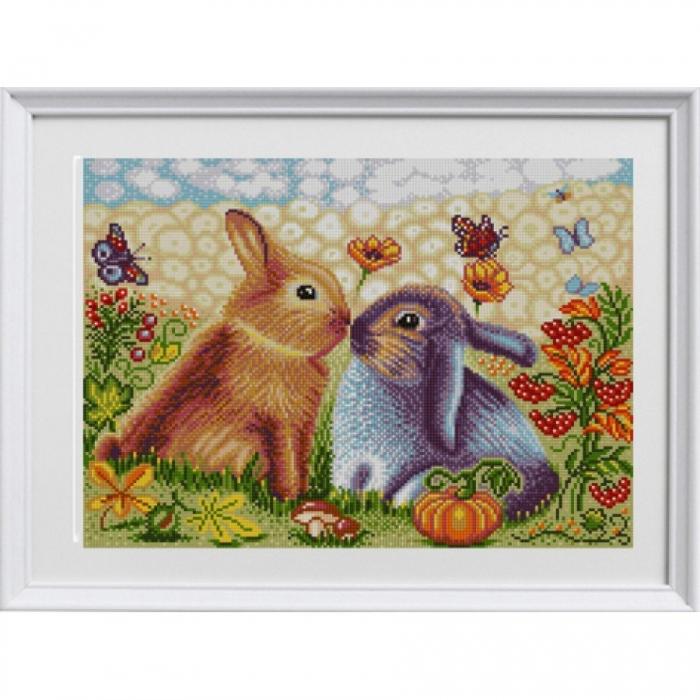 Рисунок на ткани (Бисер) КОНЁК арт. 1315 Зайцы 29х39 см