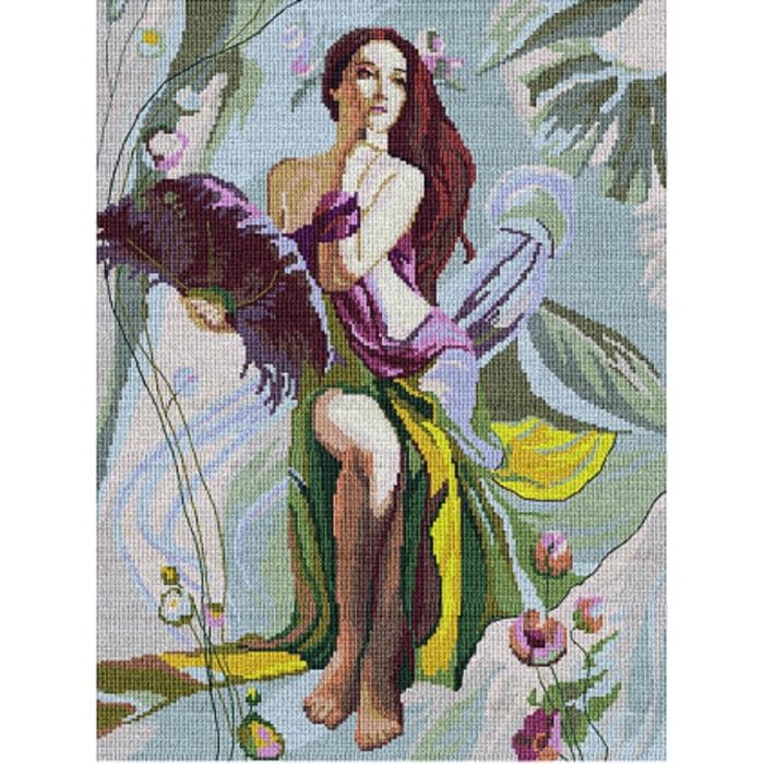 Набор для вышивания мулине НИТЕКС арт.0067 Очарование 34,5х46 см