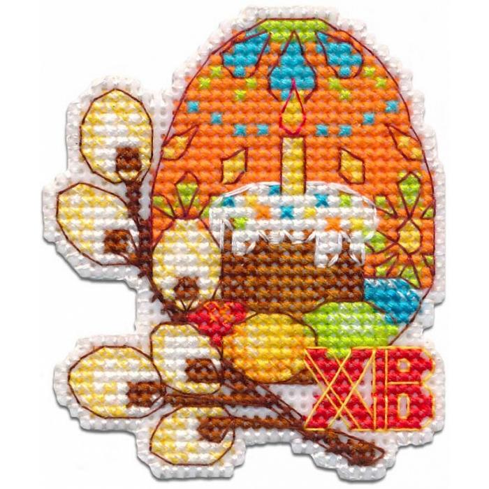 Набор для вышивания ОВЕН арт. 1289 Пасхальное яйцо 6,3х7,3 см