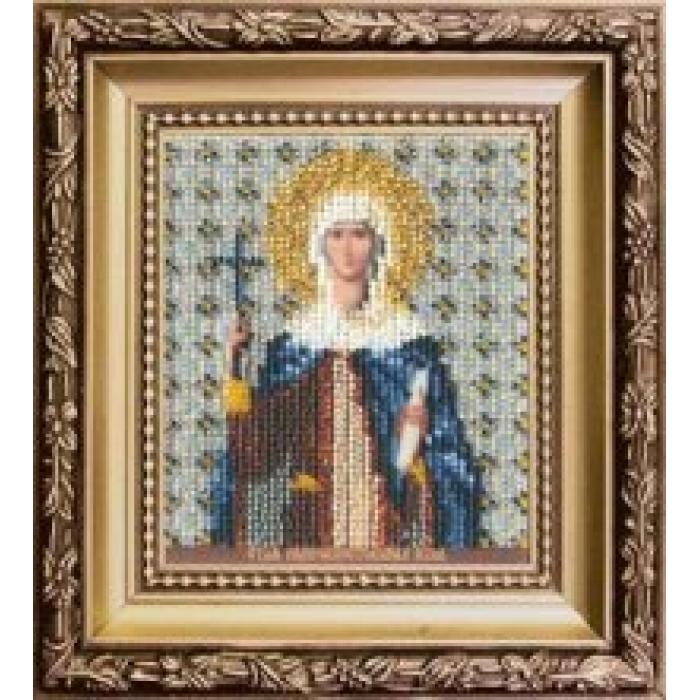 Набор для вышивания бисером ЧАРИВНА МИТЬ арт.Б-1144 Икона святой равноапостольной Нины 9х11 см