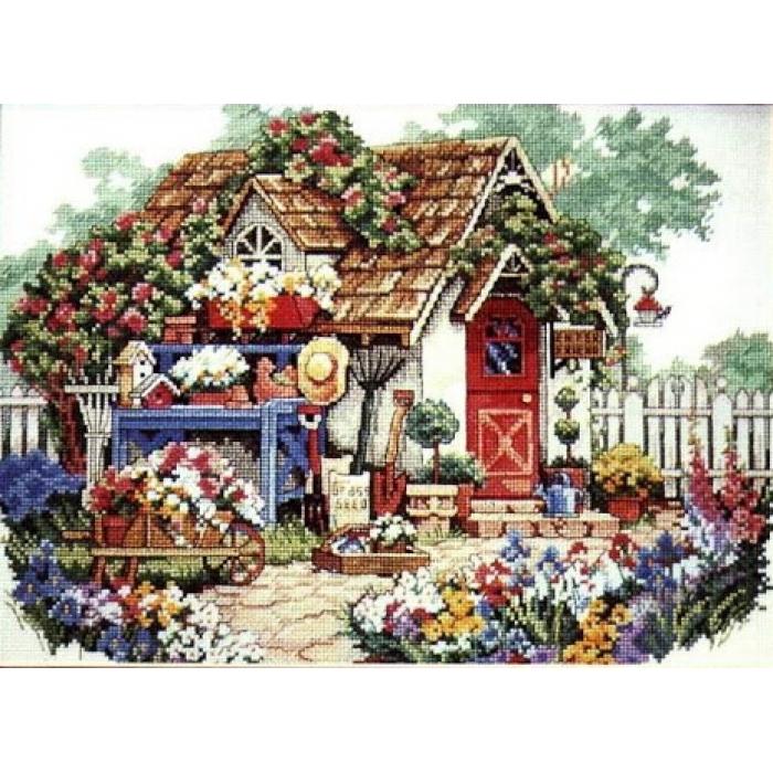 """Набор для вышивания Classic Design арт.4322 """"Садовый домик"""" 35х25 см"""