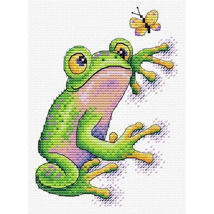 Набор для вышивания ЖАР-ПТИЦА арт.В-534 Лягушка 10х14 см