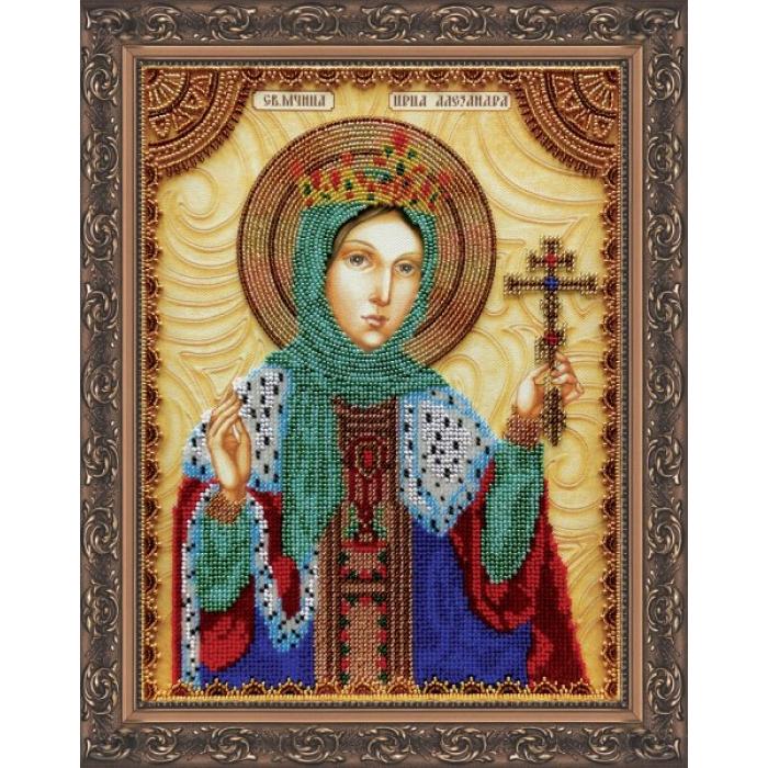 Набор для вышивания бисером АБРИС АРТ арт. AA-034 Св.Александра 23х30 см