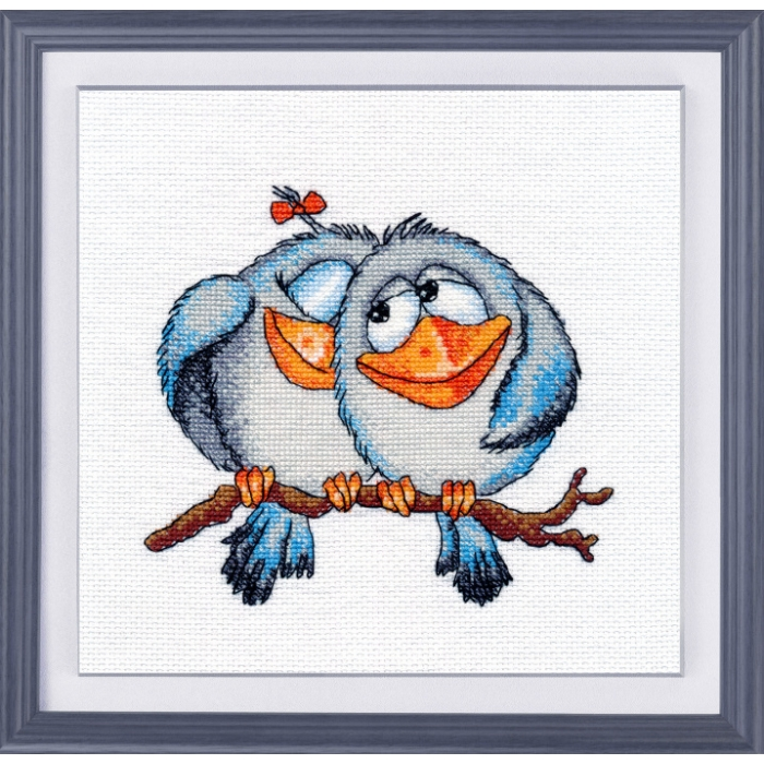 Набор для вышивания ОВЕН арт. 1045 Каркуши 14х13 см