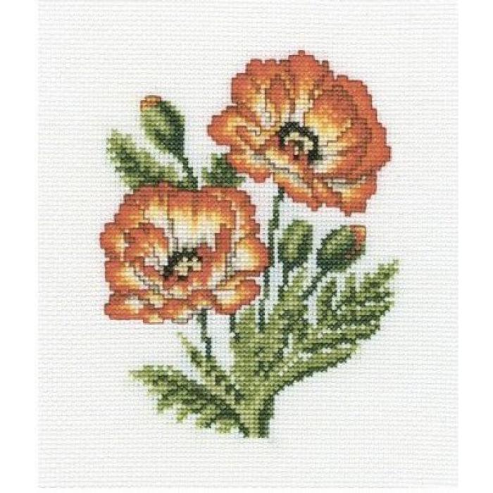 Набор для вышивания РТО арт.C187 Маки 13х17 см
