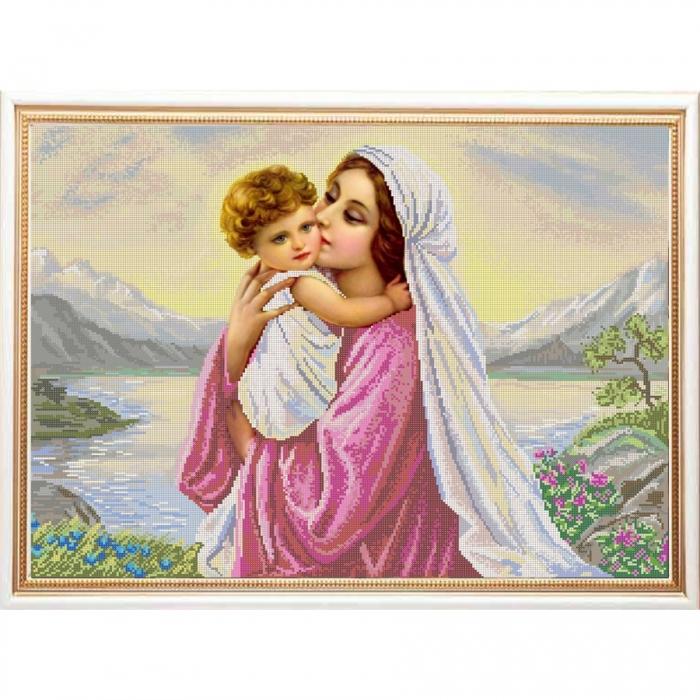 Рисунок на ткани (Бисер) КОНЁК арт. 9969 Мать и дитя 45х60 см