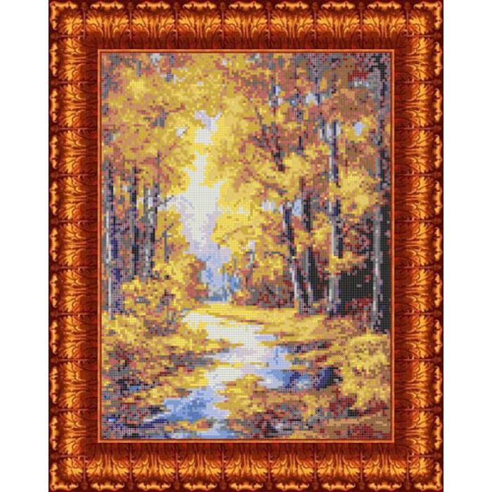 Канва с нанесенным рисунком КАРОЛИНКА арт. КК-023 Осенние краски 23х30 см