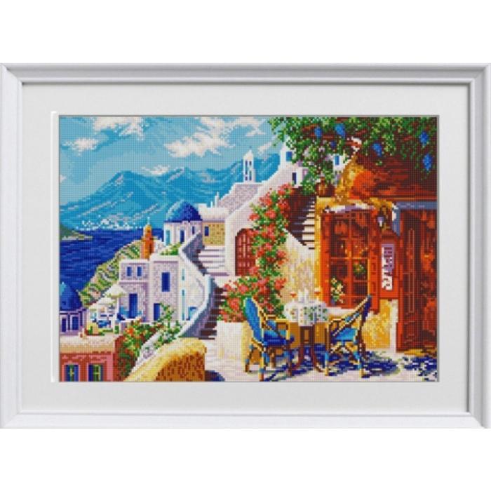 Рисунок на ткани (Бисер) КОНЁК арт. 1284 Санторини 29х39 см