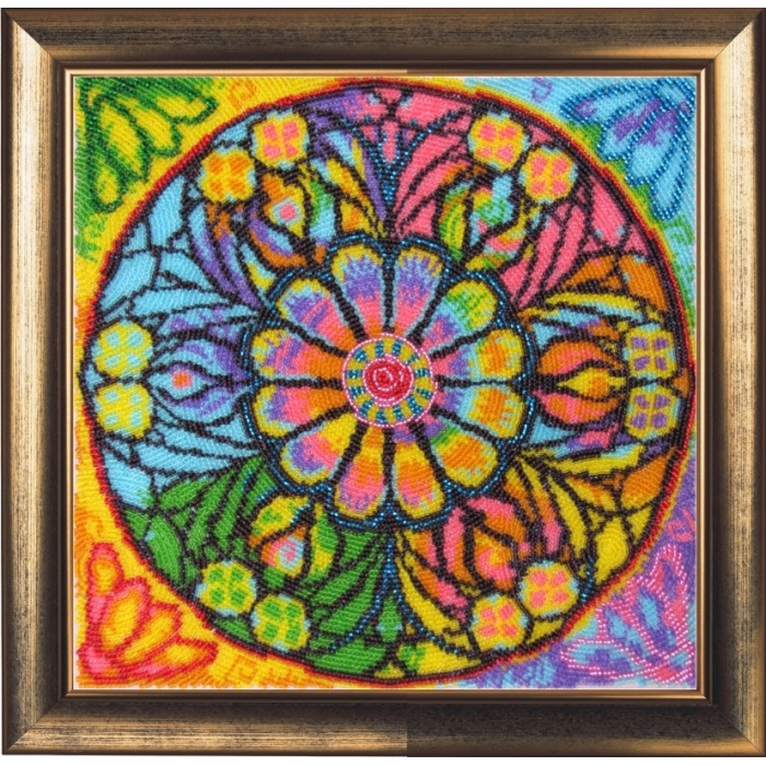 Набор для вышивания BUTTERFLY арт. 122 Мандала счастья 25х25 см