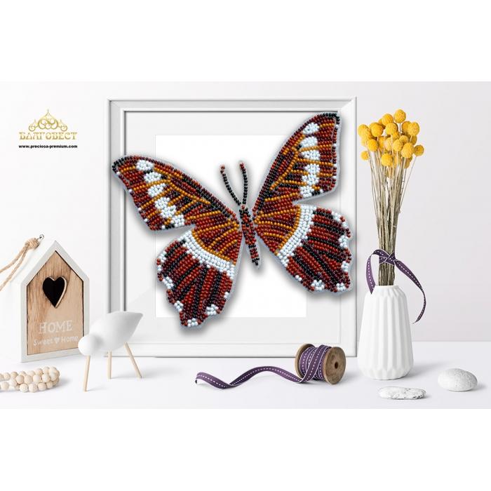 Пластиковая перфорированная основа БЛАГОВЕСТ арт.БС-123 3-D Бабочка. Papilio mechowi 10х12 см