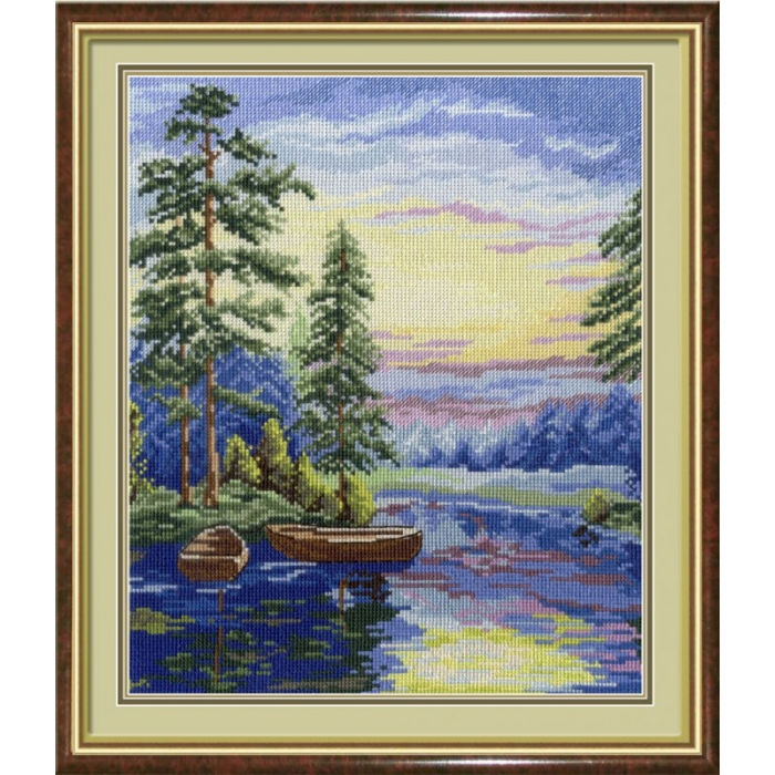Набор для вышивания МП СТУДИЯ арт.НВ-344 Лесное озеро 30х25 см