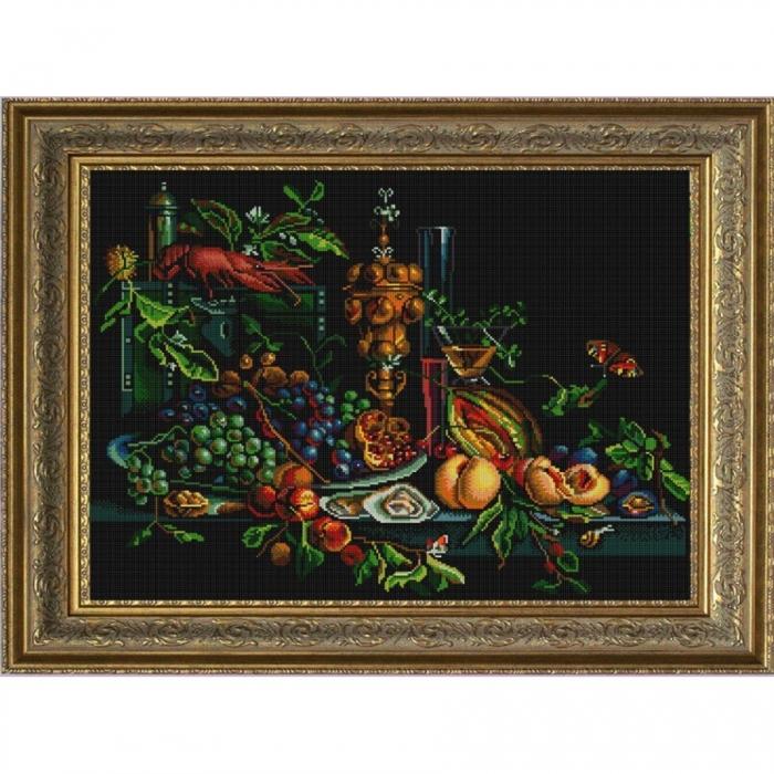 Рисунок на ткани (Бисер) КОНЁК арт. 1254 Голландский натюрморт 45х60 см